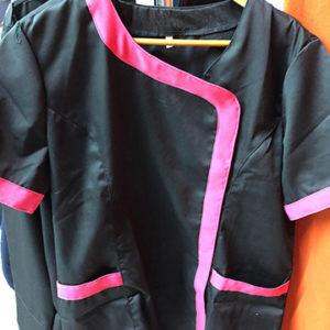 casacca estetista nero glicine